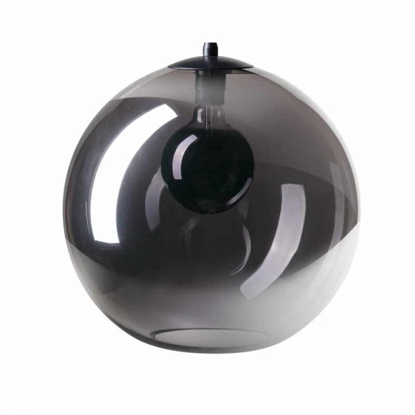 Hanglamp met glazen rookglas bollen - Peter