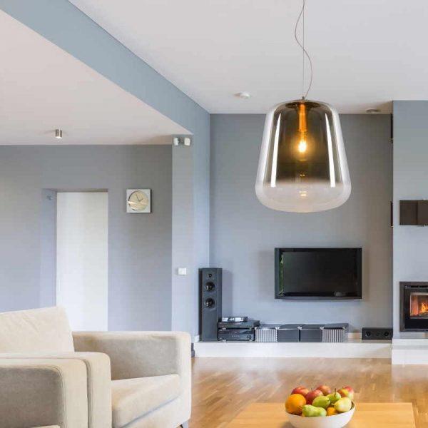 Hanglamp Rookglas - Woonkamer (Bert)