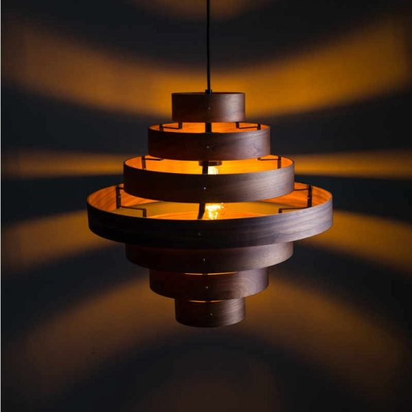 Houten Hanglamp Eettafel - LUXA