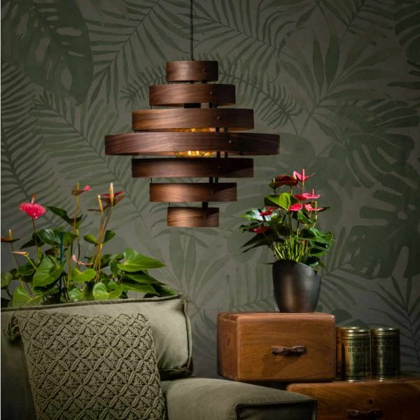 Luxa Houten Ronde Hanglamp - Woonkamer