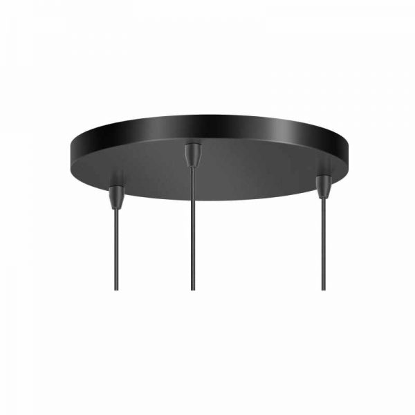 Plafondplaat - Hanglamp Peter met Rookglas