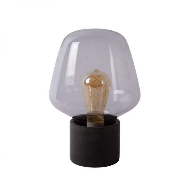 Tafellamp Rookglas Beton - Fien
