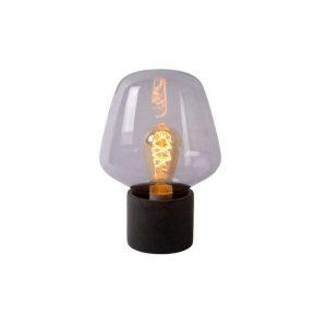 Tafellamp Fien - Beton en rookglas