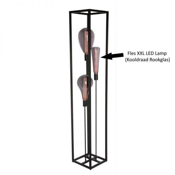 Voorbeeld Fles XXL LED Lamp - Kooldraad Rookglas