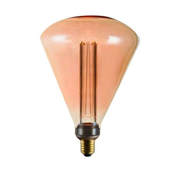 XXL Kooldraad LED Lamp - Triangel  Kooldraad Amber