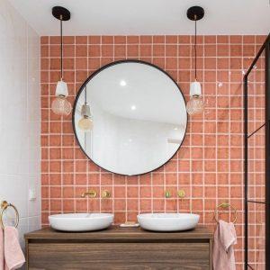 badkamer roze lampen eigen huis en tuin