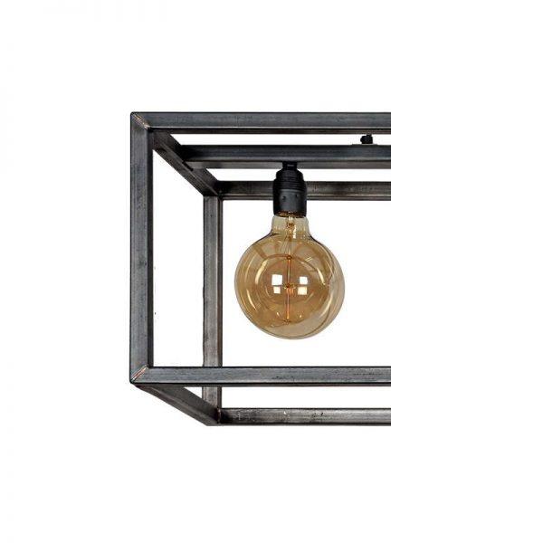 Riminin Hanglamp - Zwart staal langwerpig (industrieel)