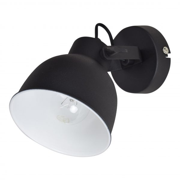 industrial wandlamp 14 cm zwart