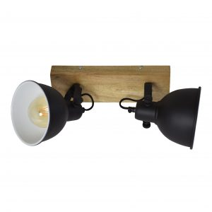 industriële plafondspot 2 lichts