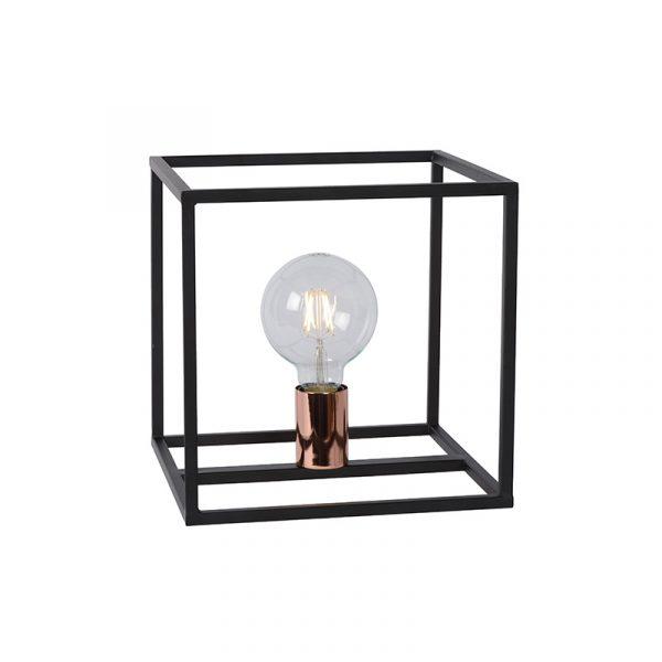 Tafellamp Zwart Frame - Arthur met koper