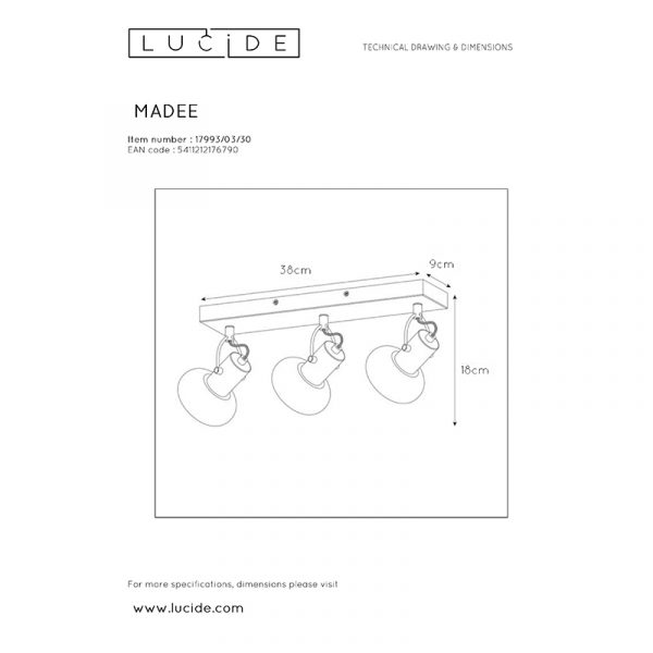 Lonne 3-Lichts Spot