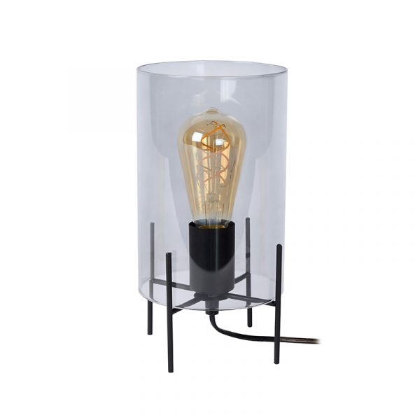 Jans Tafellamp Rookglas