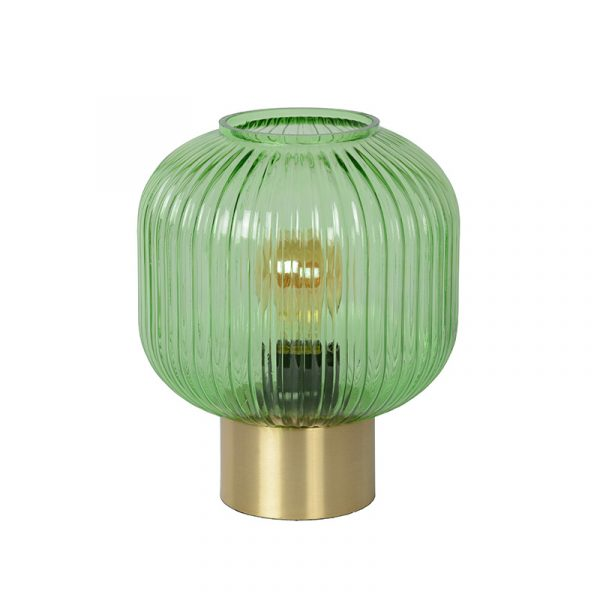 Danique Tafellamp Groen Mat Goud
