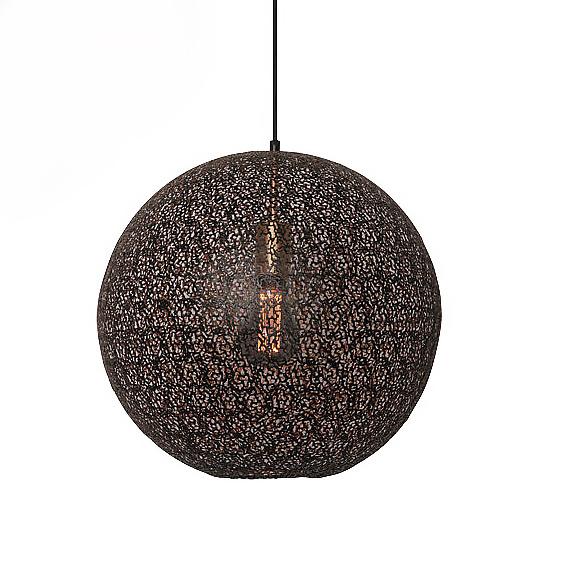 Oosterse Hanglamp - Moon zwart met goud