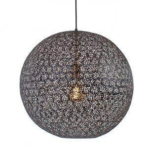 Oosterse Hanglamp Moon - Zwart met Goud