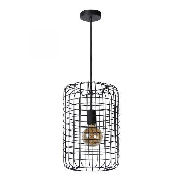 Hanglamp Cage Zwart 26 cm - Kooi