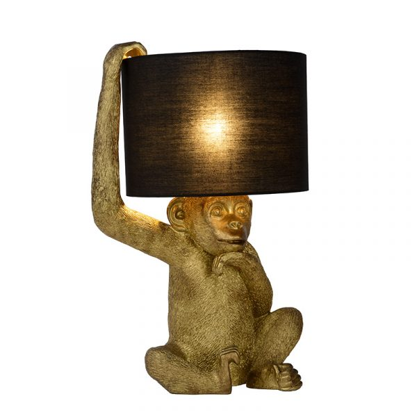 Monkey Tafellamp Zwart Goud