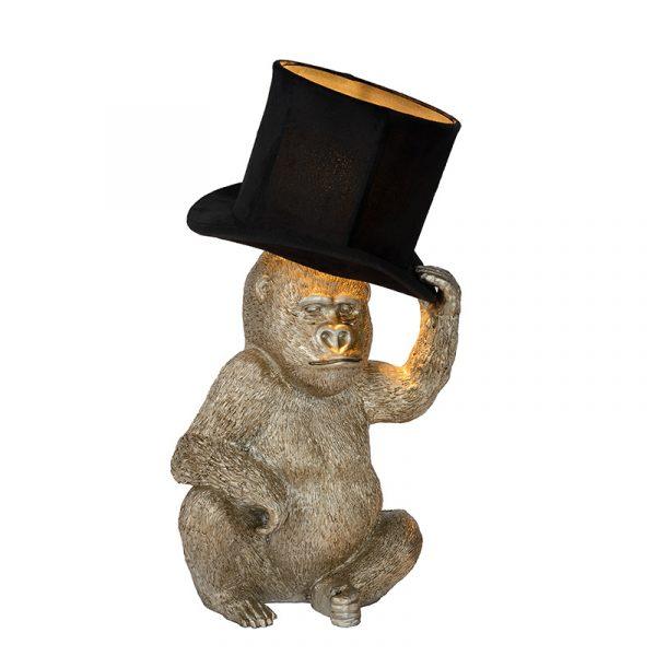Tafellamp Goud Aap - met hoed (Monkey Hat)