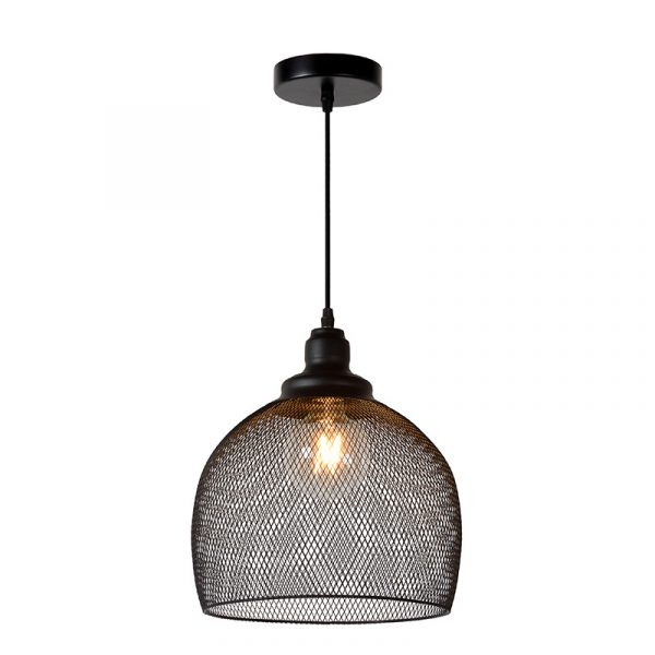 Cage Hanglamp 28 cm - hanglamp zwart gaas