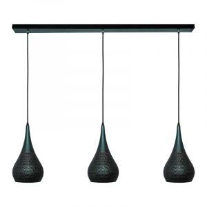 Burma Hanglamp 3lichts Metaal Bruin