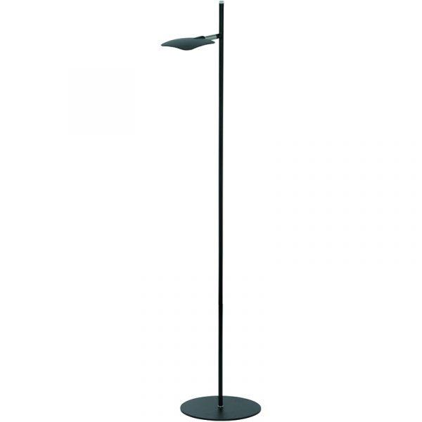 Wings Vloerlamp 1-Lichts Leeslamp Zwart