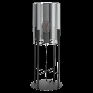 Tafellamp Gaston - Zwart en Rookglas