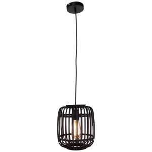 Hanglamp Zwart Rotan