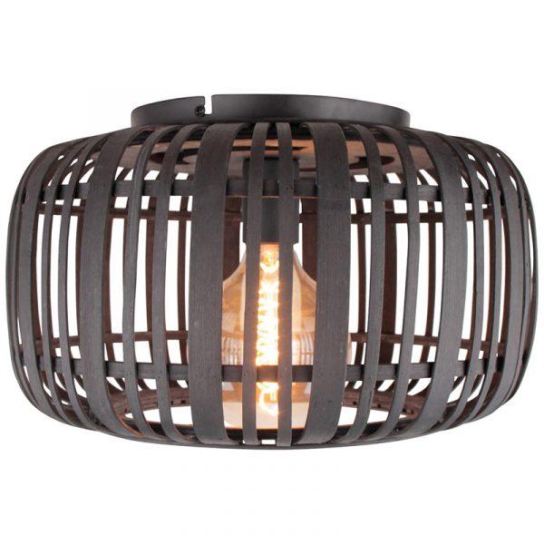 Macca Plafondlamp Zwart Rotan