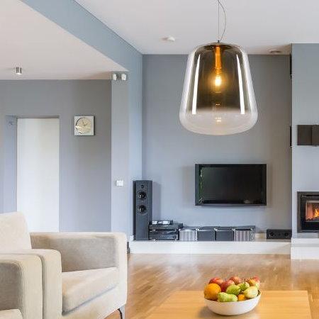Rookglas Hanglamp boven Salontafel