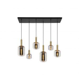 Joanet_hanglamp_6-lichts_rookglas