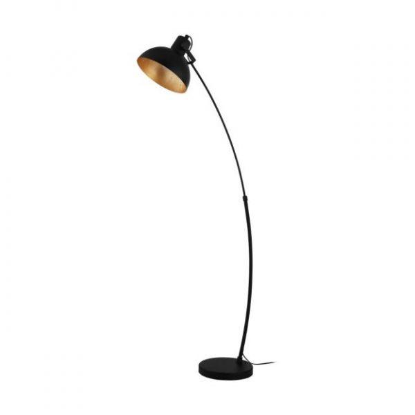seventy extra vloerlamp booglamp zwart goud