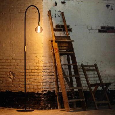 Vloerlamp Rookglas Industrieel