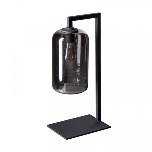 Kruis_tafellamp_smoke_glas_lampencompleet