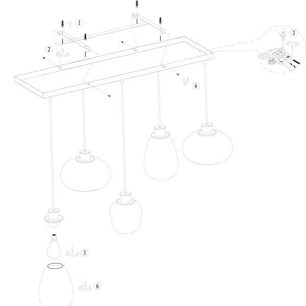 Reflexion_hanglamp__5-lichts__lampencompleet